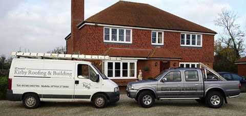 photo of Daniel Kirby Roofing and Building vans